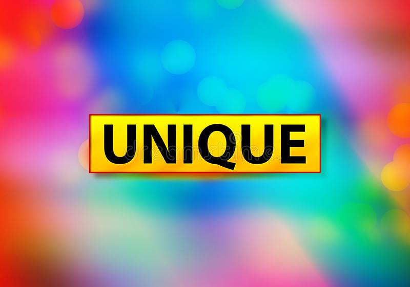 Unique Abstract Colorful Background Bokeh Design Illustration. Unique Isolated on Yellow Banner Abstract Colorful Background Bokeh Design Illustration royalty free illustration
