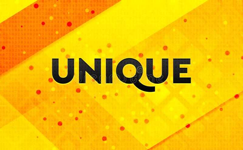 Unique abstract digital banner yellow background. Unique isolated on abstract digital banner yellow background royalty free stock photos