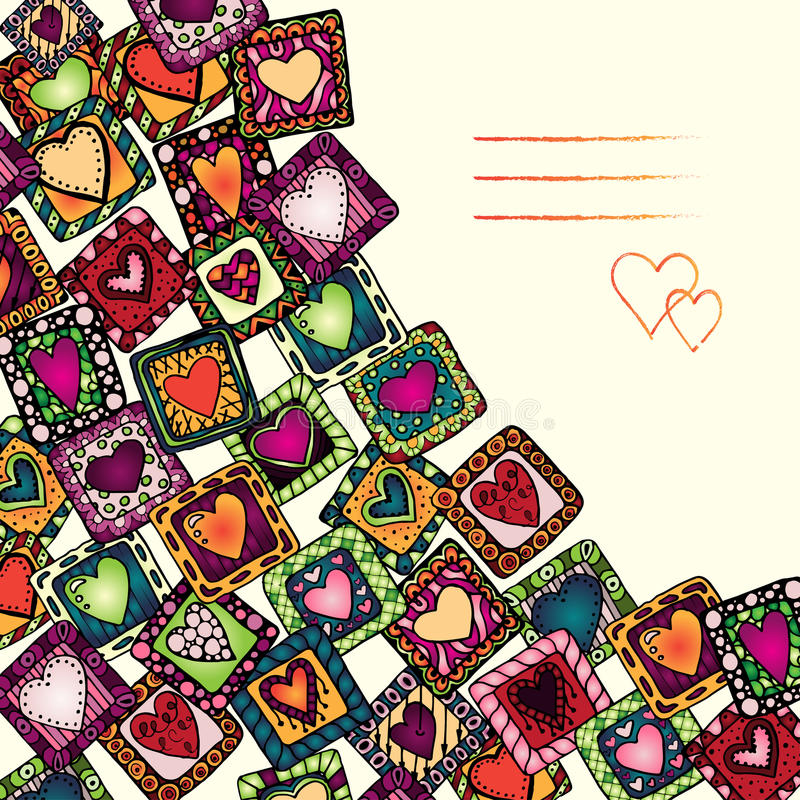 Unique abstract ethnic pattern card set vector illustration