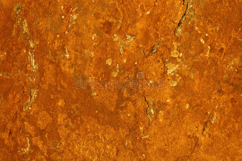 Unique abstract texture - rusting iron ore on a stone surface creating a rust pattern royalty free stock image