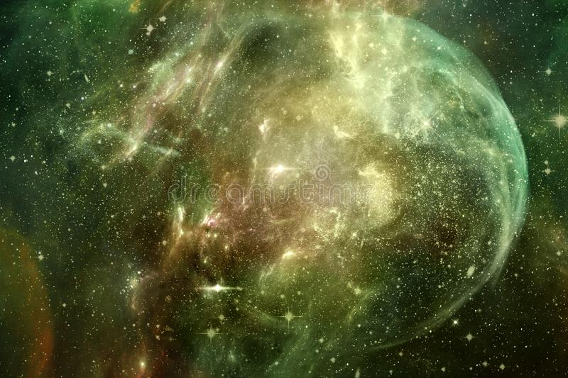 Unique Abstraction Space Background For Design As A Mystical Deep Space Artwork. Artistic abstract multicolored unique smooth galaxy as a unique beautiful stock photography