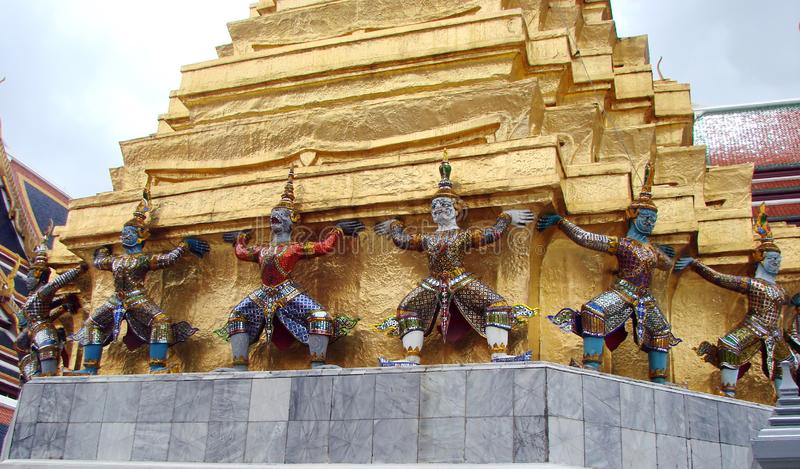 The capital of Thailand is the city of Bangkok. Beauty and greatness of the royal palace. The unique architecture of Thai royal buildings, combined with the stock photo
