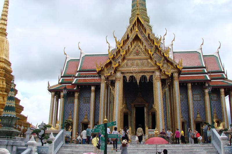 The capital of Thailand is the city of Bangkok. Beauty and greatness of the royal palace. The unique architecture of Thai royal buildings, combined with the stock photos