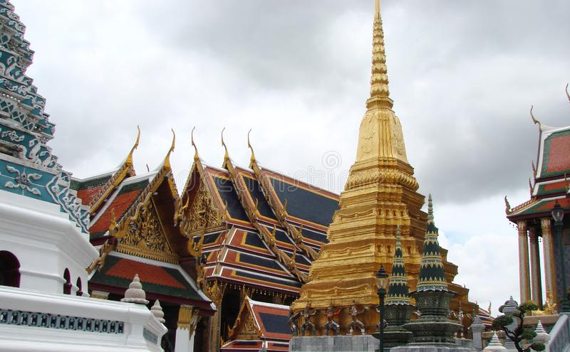 The capital of Thailand is the city of Bangkok. Beauty and greatness of the royal palace. The unique architecture of Thai royal buildings, combined with the stock image