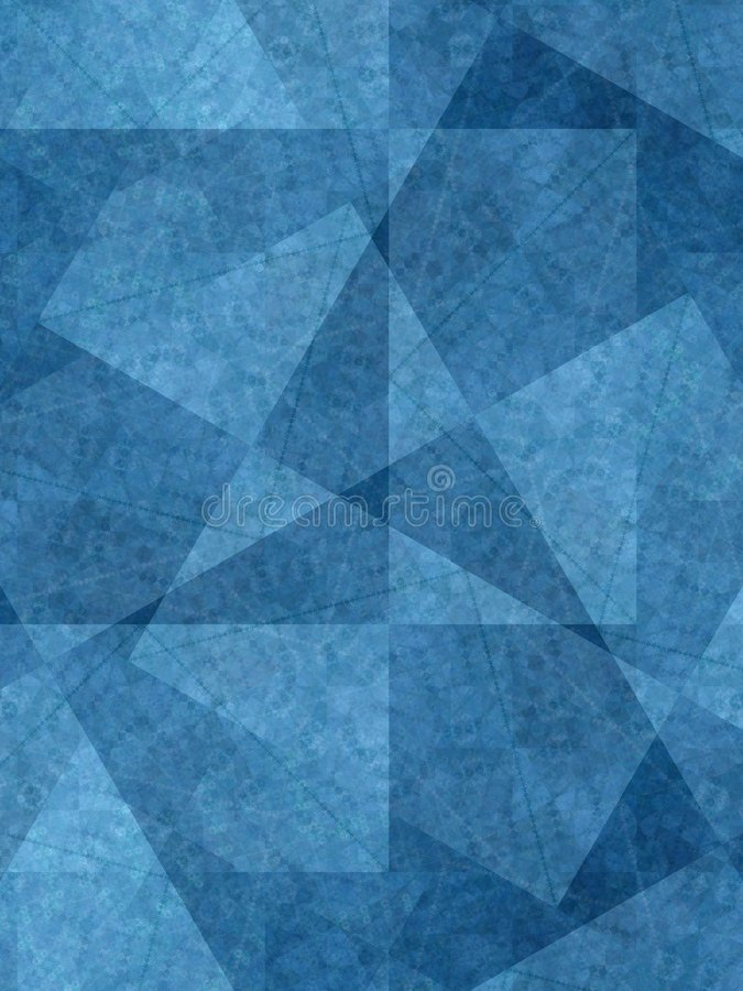 Unique Backgrounds Blue Shapes. A unique background pattern of blue toned triangles and square textures stock image