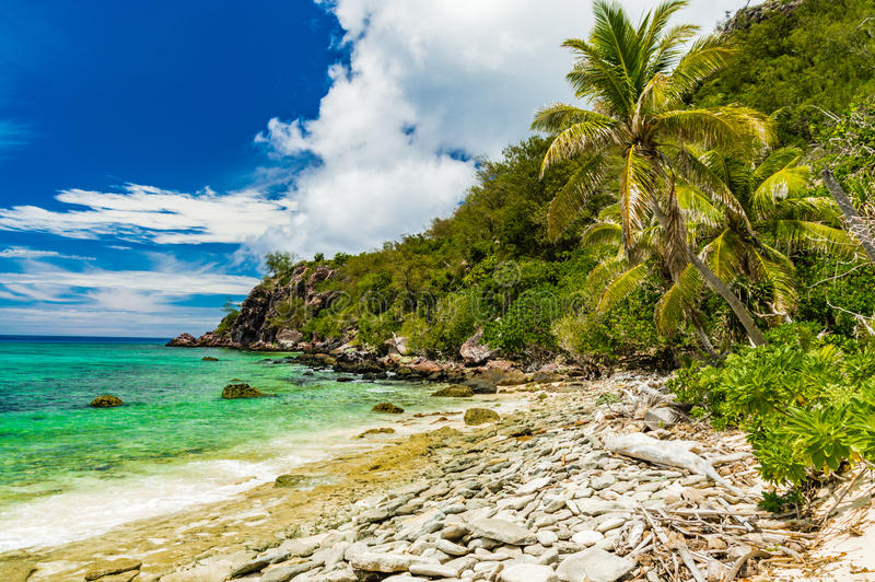 Unique beach on Fiji`s islands royalty free stock image