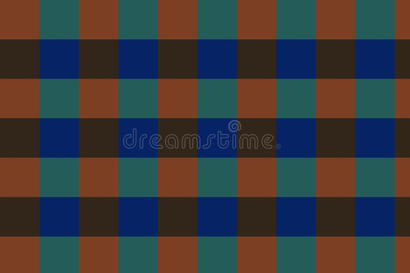 Background checkers of green, dark blue, brown colors!. Unique, beautiful, lovely, fine, fair background! Photo checkers of green, dark blue, brown colors stock illustration