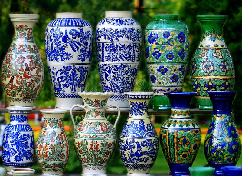 Unique And Beautifull Traditional Pottery. Stock Photo