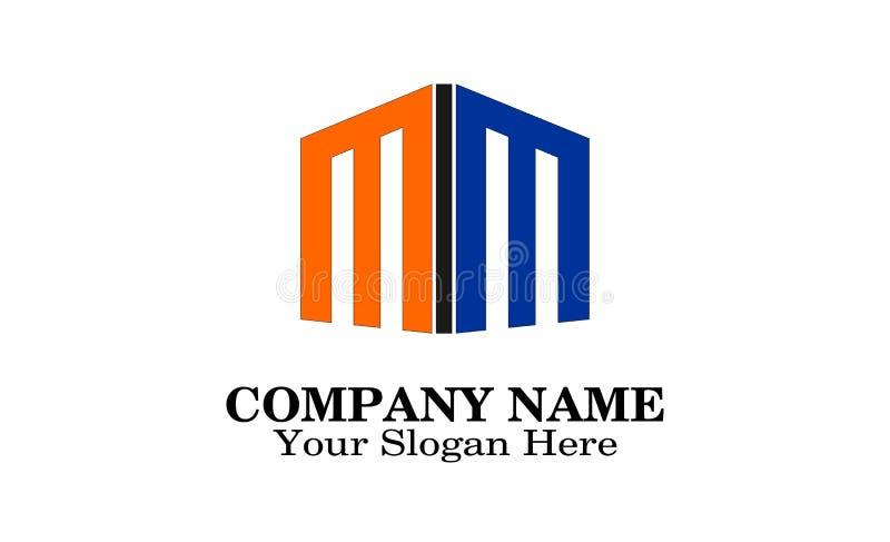 Unique building logo design royalty free illustration