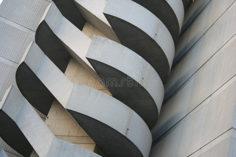 Unique Building Stairs royalty free stock photos
