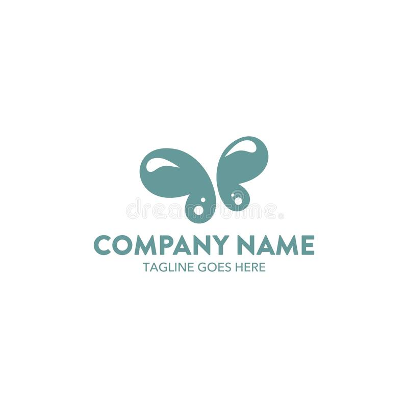 Unique butterfly logo template. vector. editable royalty free illustration
