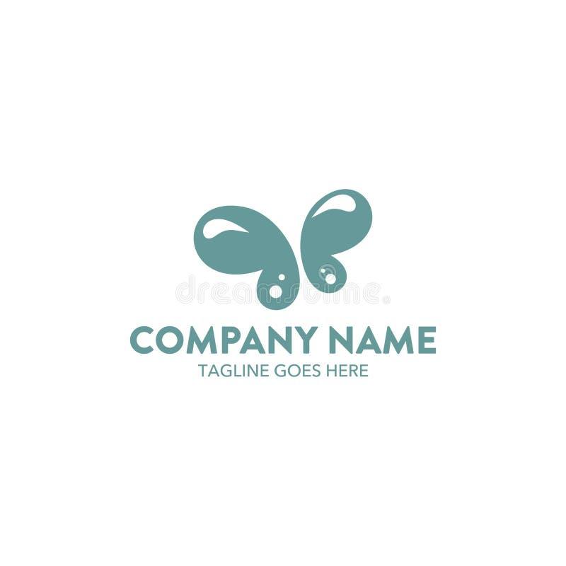 Unique butterfly logo template. vector. editable. Simple shape. minimalist color. memorable royalty free illustration