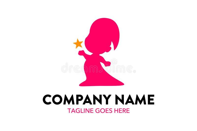 Unique child care. children logo template vector illustration