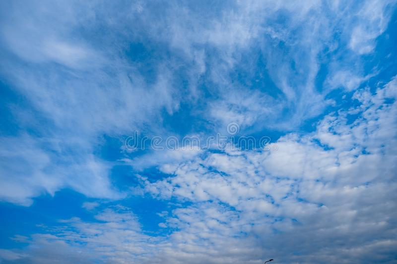 Unique Clouds style on the open sky for background royalty free stock images