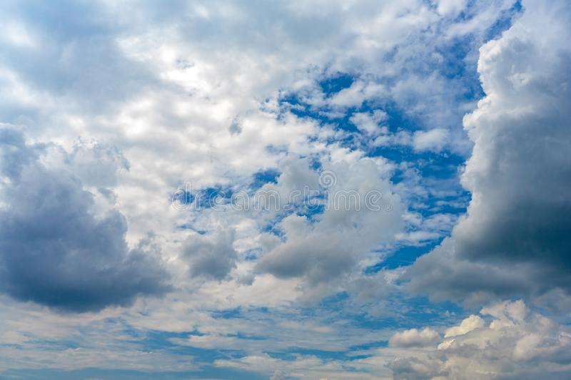 Unique Clouds style on the open sky for background royalty free stock photography
