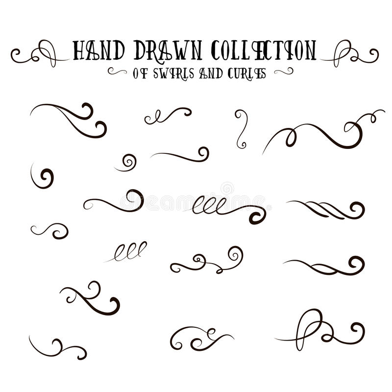 Free Unique Collection Of Handdrawn Swirls And Curles. Royalty Free Stock Photography - 89548057