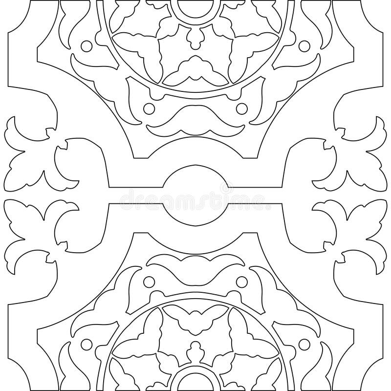 Download unique coloring book square page for adults stock vector illustration of azulejo coloring