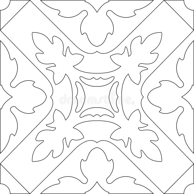 Line Art Joy : Unique coloring book square page for adults seamless