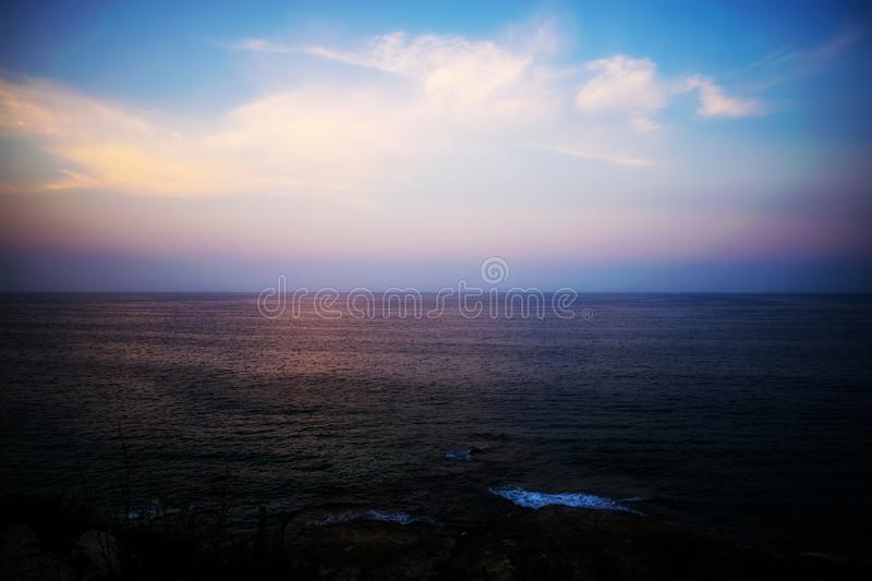 The Colours of Sunset in Malta royalty free stock photography