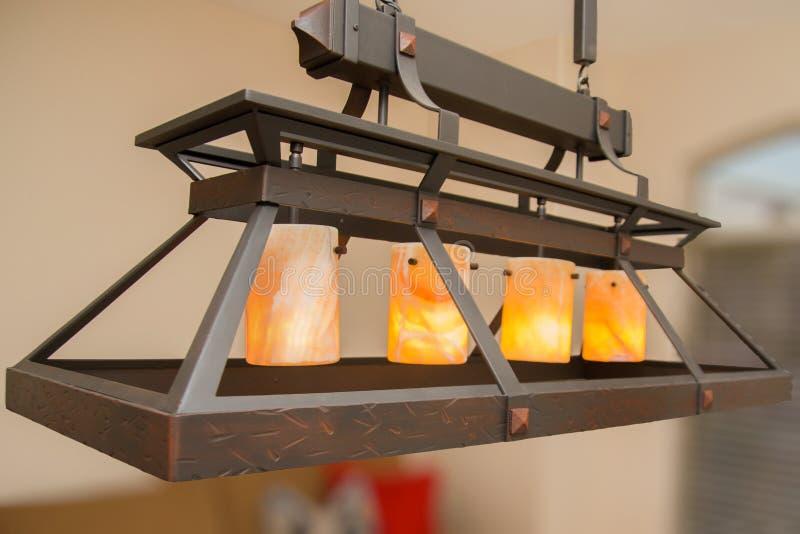 Unique Custom Made Ceiling Light Fixture stock image