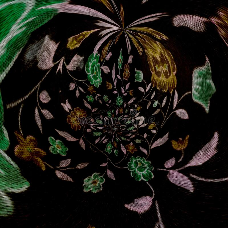 Free Unique Dark Background Flowers Abstract Art Royalty Free Stock Image - 209898876