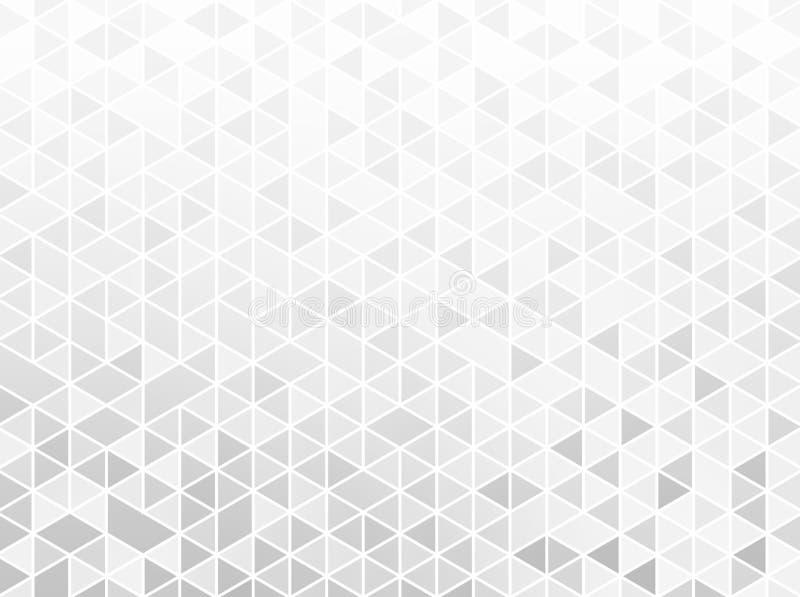 White geometric pattern. Brilliance background. Light triangle shapes. Unique design graphic. Original trendy illustration vector illustration