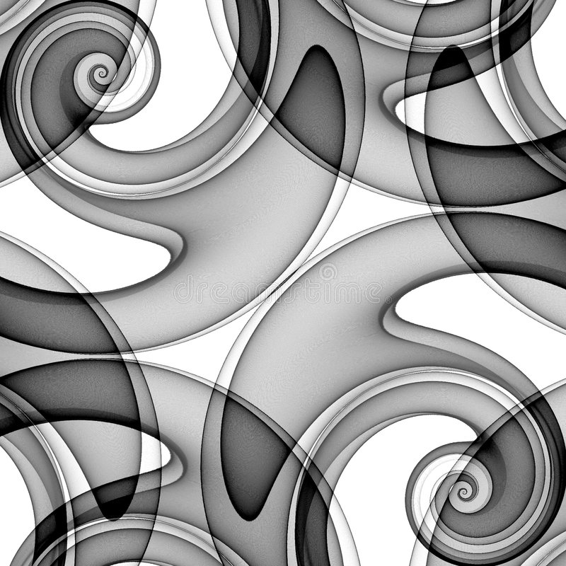 Unique Double Spirals Pattern stock illustration