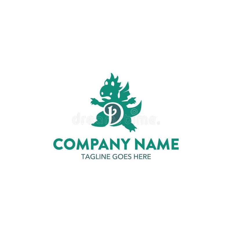 Unique Dragon Logo stock illustration