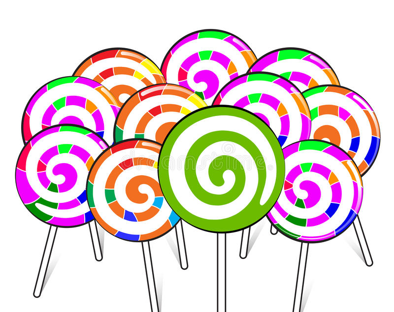 Unique dreamstime candy. High quality colorful unique dreamstime lollipops.(This image is a illustration and can be scaled to any size without loss of resolution stock illustration