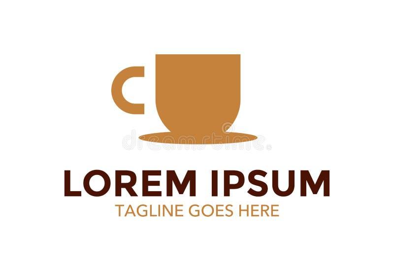 Unique et tenez le logo de café Illustration de vecteur editable illustration libre de droits