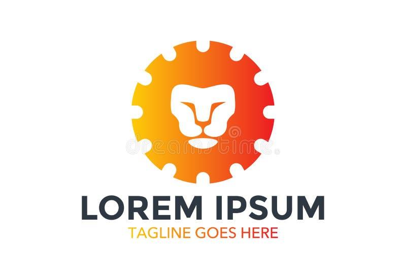 Unique et tenez le logo de lion Illustration de vecteur editable illustration libre de droits