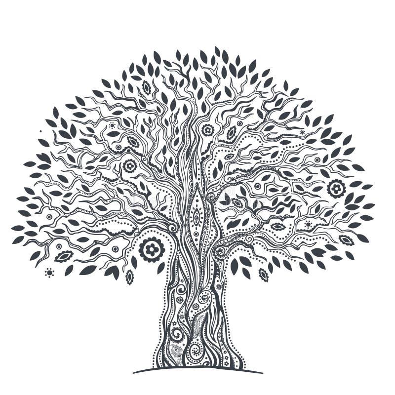 Unique ethnic tree of life. Beautiful Unique ethnic tree of life illustration