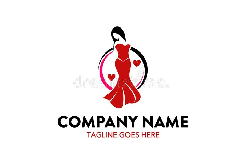 Unique fashion boutique logo template royalty free illustration