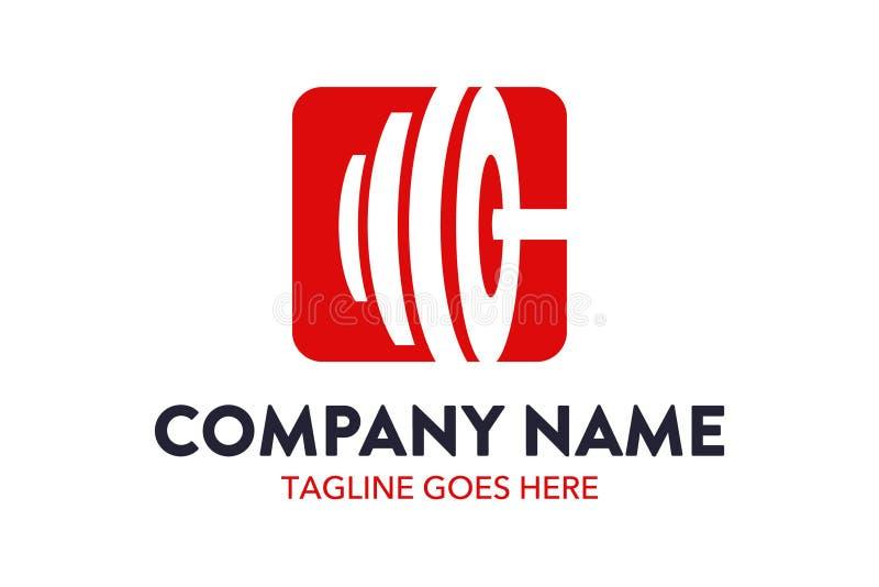 Unique fitness and gymnastic logo template. Simple shape. minimalist color. memorable stock illustration