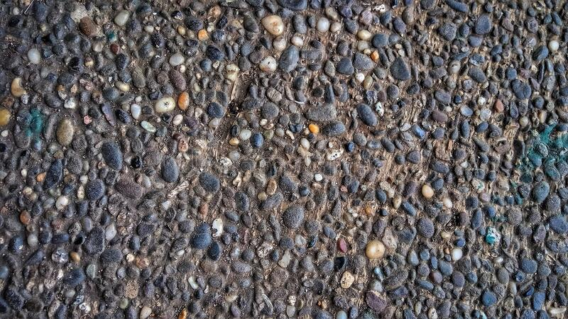 Unique floor made of small stones. royalty free stock photo