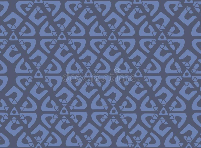 Unique Geometric Vector Seamless Pattern made in ethnic style. Aztec textile print. royalty free illustration