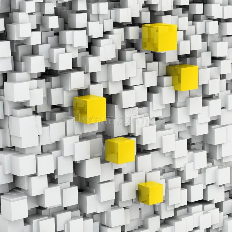 Download Unique golden cubes stock illustration. Illustration of architecture - 26247955