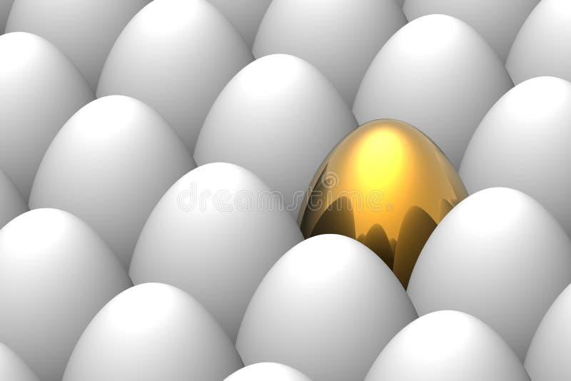 Unique golden egg royalty free stock photo
