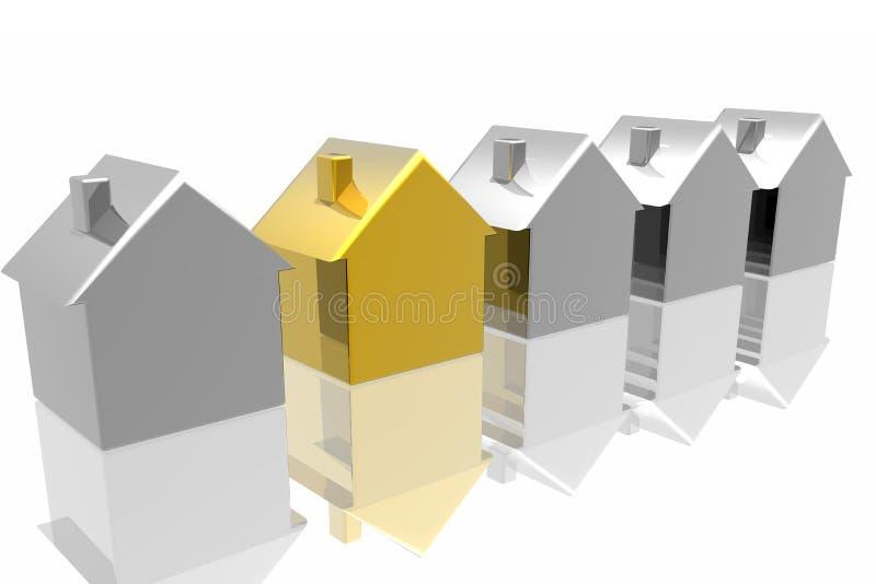 Download Unique golden house stock illustration. Illustration of cottage - 4384740