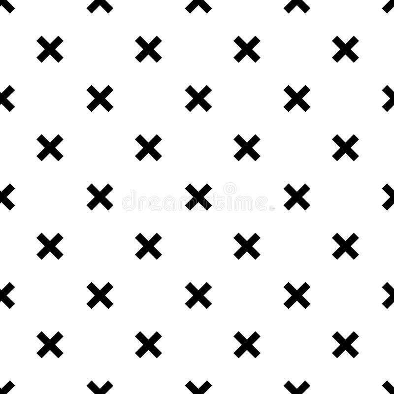 Unique hand drawn seamless pattern with abstract shapes. Vector illustration in monochrome scandinavian style.  stock illustration