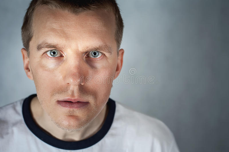 Unique handsome man with strong character. Looking at camera. Personality. Ukrainian ethnic. Nation. Ukraine and Russia problems stock photos
