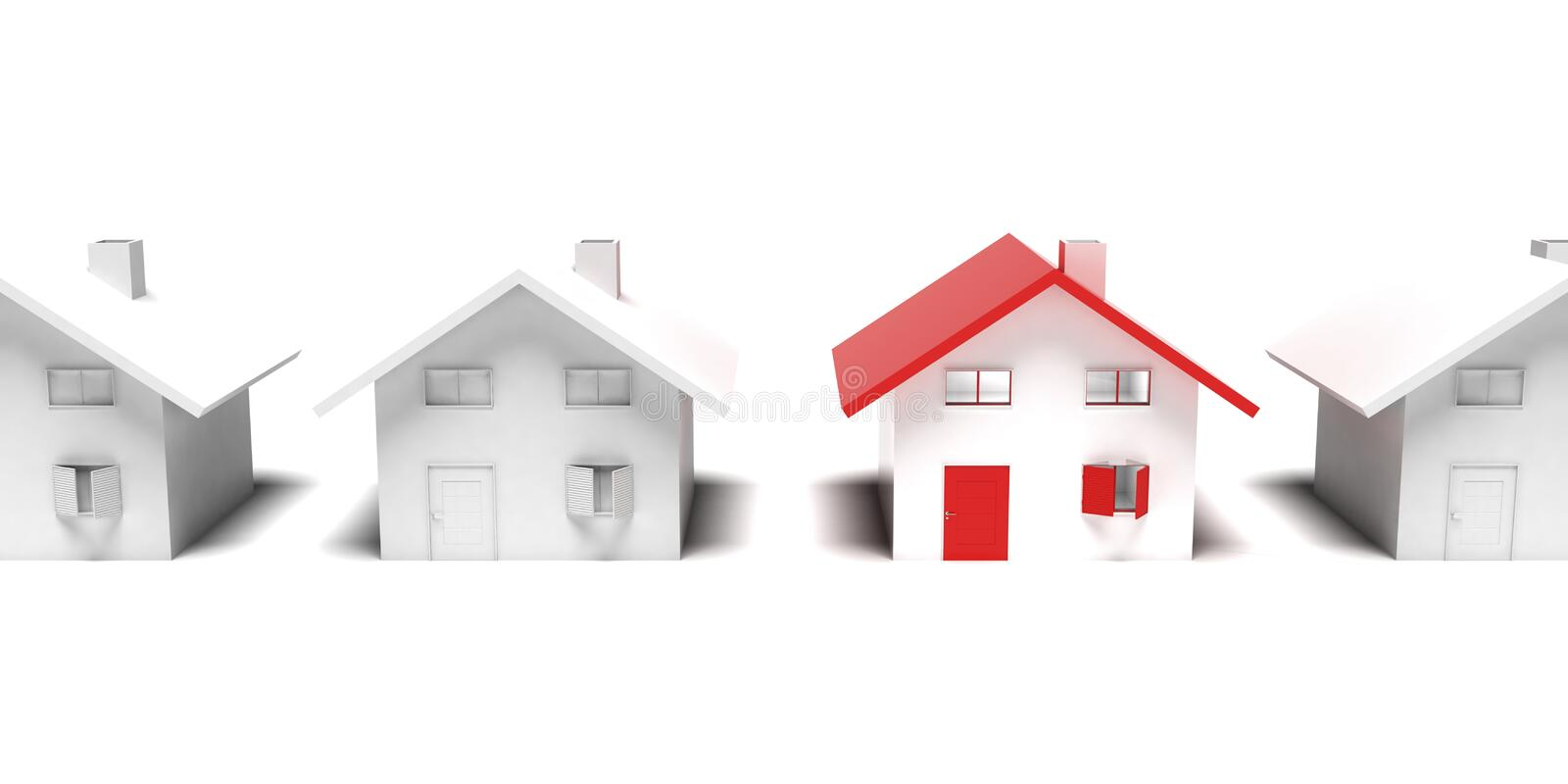 Download Unique house stock illustration. Image of outstanding - 19018443
