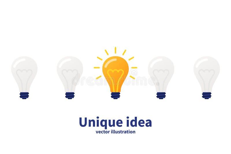 Unique idea concept vector illustration