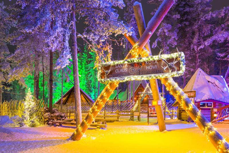 Unique Igloo in Santa Claus Village in Rovaniemi in Lapland royalty free stock photography