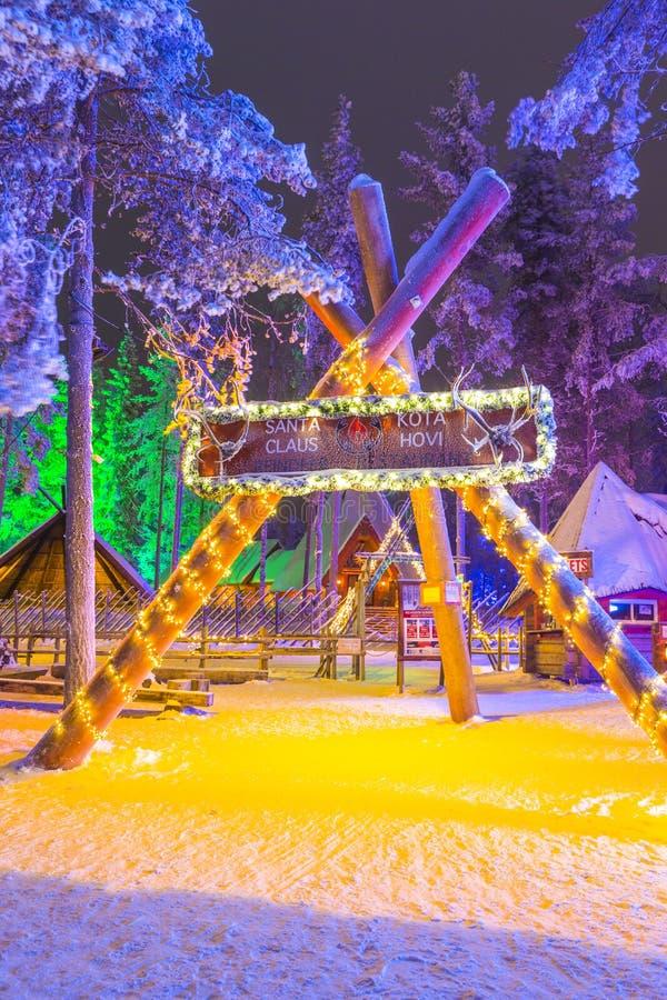 Unique Igloo in Santa Claus Village in Rovaniemi in Lapland royalty free stock image