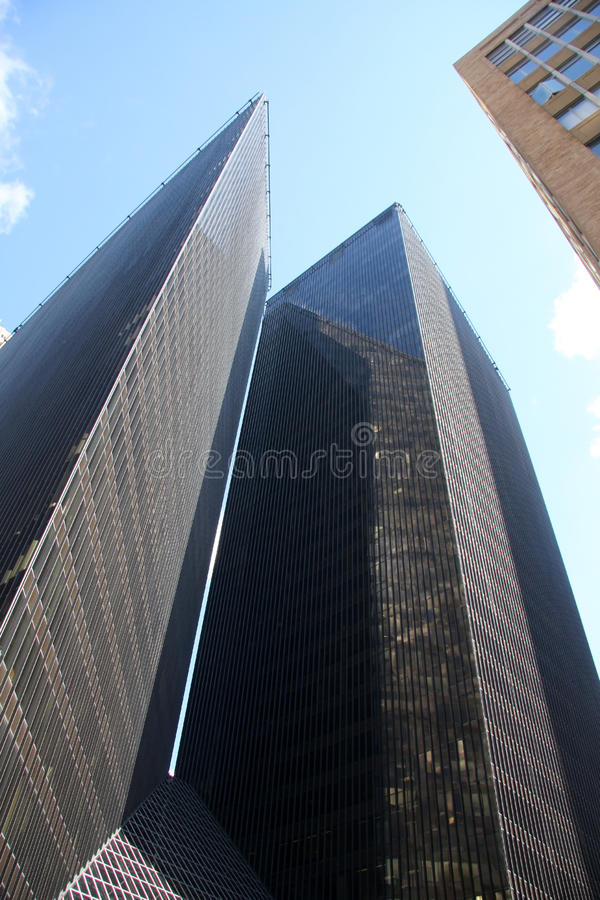 A unique modern building of downtown Houston stock images