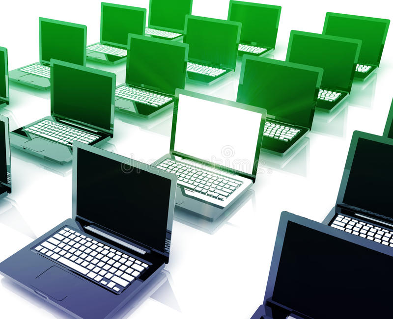 Download Unique notebook among many stock illustration. Illustration of computing - 10047763