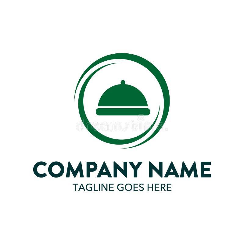 Unique and original food logo template. Simple shape. minimalist color. memorable stock illustration