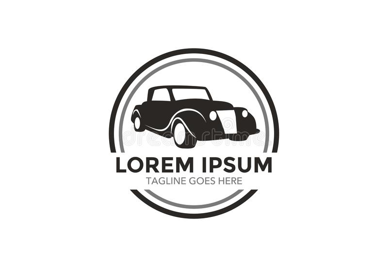 Unique and outstanding classic car logo. vector illustration. editable royalty free stock image