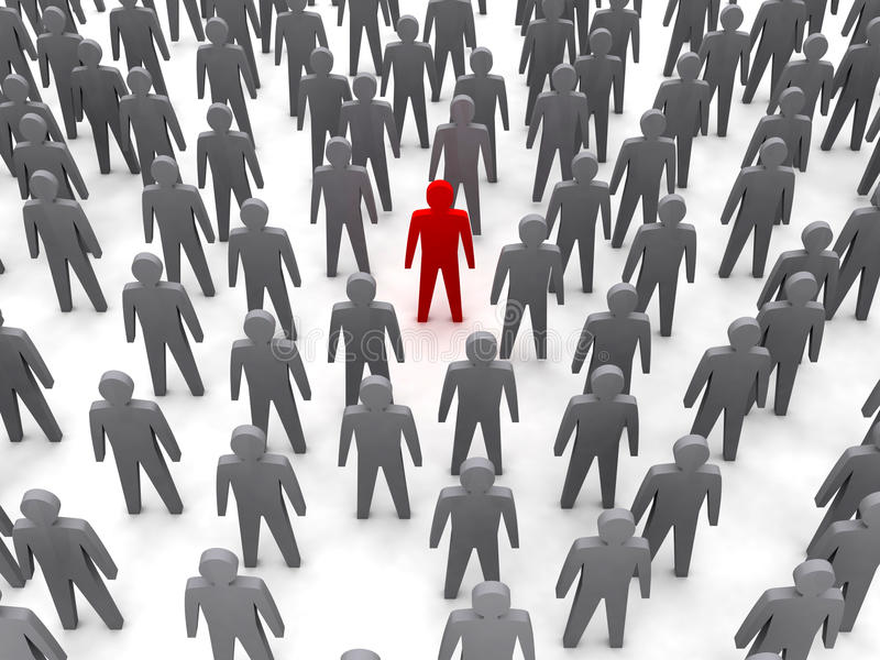Download Unique Person In Crowd. Stock Images - Image: 28933444